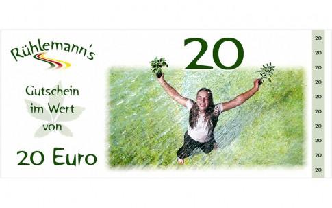 Gutschein im Wert von EURO 20,- (Gültig bis 31.12.2019)