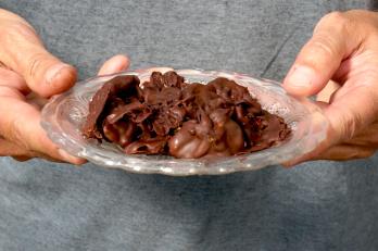 Anis-Ysop + Kapuzinerkresse in Schokolade
